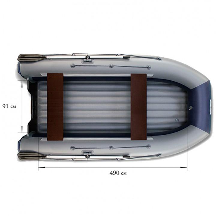 Надувная лодка ПВХ Флагман DK 550 JET