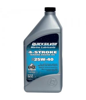 Масло моторное Quicksilver минеральное 25W-40 (1л)